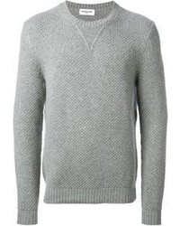 Maglione girocollo grigio
