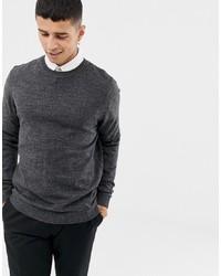 Maglione girocollo grigio scuro di ASOS DESIGN