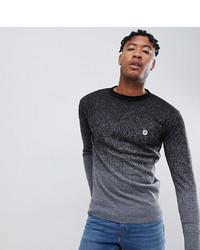 Maglione girocollo grigio scuro di Le Breve