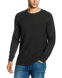 Maglione girocollo grigio scuro di Selected Homme