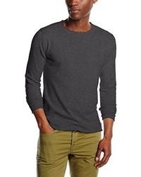 Maglione girocollo grigio scuro di Tom Tailor