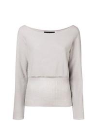 Maglione girocollo grigio di Fabiana Filippi
