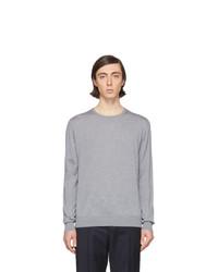 Maglione girocollo grigio di Lanvin