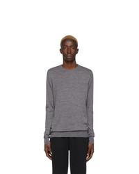 Maglione girocollo grigio di Sunspel