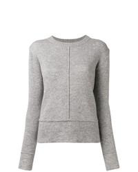 Maglione girocollo grigio di Woolrich