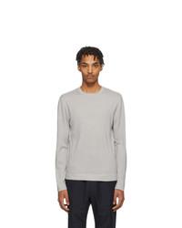Maglione girocollo grigio di Z Zegna