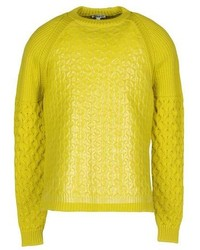 Maglione girocollo lime