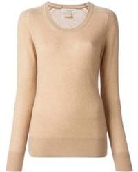 Maglione girocollo marrone chiaro