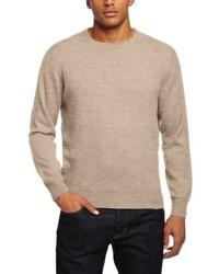 Maglione girocollo marrone chiaro di Al Andalus