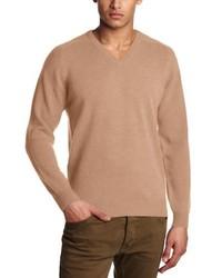 Maglione girocollo marrone chiaro di Alan Pain