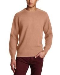 Maglione girocollo marrone chiaro di Alan Paine