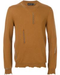 Maglione girocollo marrone chiaro di Alexander McQueen