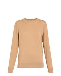 Maglione girocollo marrone chiaro di Burberry