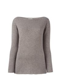 Maglione girocollo marrone chiaro di Fashion Clinic Timeless
