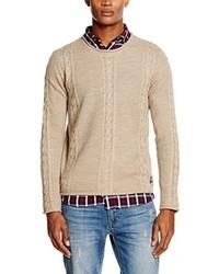 Maglione girocollo marrone chiaro di Jack & Jones