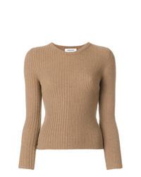 Maglione girocollo marrone chiaro di Thom Browne