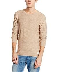 Maglione girocollo marrone chiaro di Tom Tailor