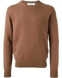 Maglione girocollo marrone