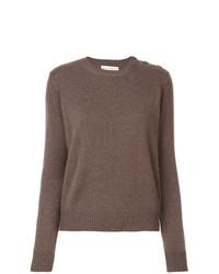 Maglione girocollo marrone di Alexandra Golovanoff