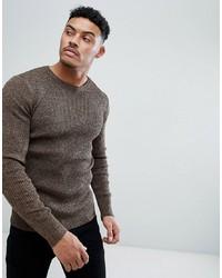 Maglione girocollo marrone di ASOS DESIGN