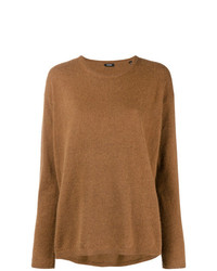 Maglione girocollo marrone di Aspesi