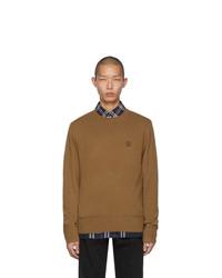 Maglione girocollo marrone di Burberry