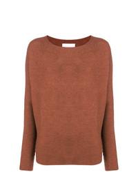 Maglione girocollo marrone di Christian Wijnants