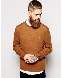 Maglione girocollo marrone di Farah