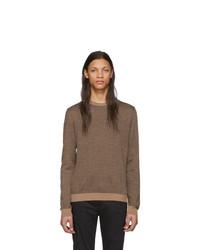 Maglione girocollo marrone di Fendi
