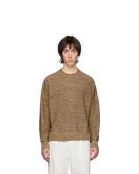 Maglione girocollo marrone di Lemaire