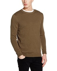 Maglione girocollo marrone di New Look