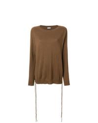 Maglione girocollo marrone di P.A.R.O.S.H.