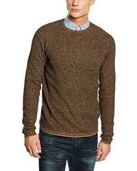 Maglione girocollo marrone di Selected Homme