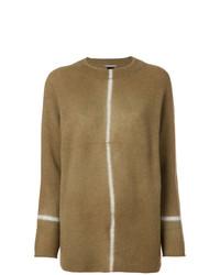 Maglione girocollo marrone di Suzusan