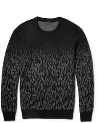 Maglione girocollo mimetico grigio scuro