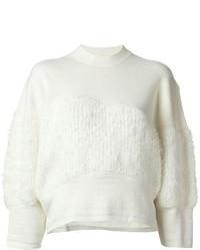 Maglione girocollo morbido bianco