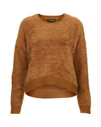 Maglione girocollo morbido marrone
