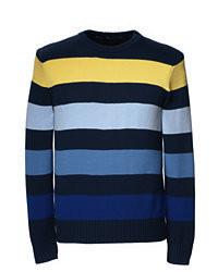 Maglione girocollo multicolore