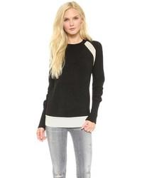 Maglione girocollo nero e bianco