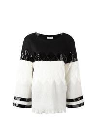 Maglione girocollo nero e bianco di Aviu