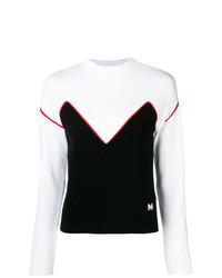 Maglione girocollo nero e bianco di MSGM