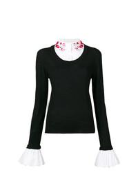 Maglione girocollo nero e bianco di Vivetta