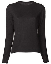 Maglione girocollo nero