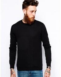 Maglione girocollo nero di Asos