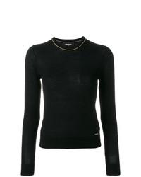 Maglione girocollo nero di Dsquared2