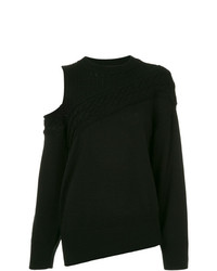 Maglione girocollo nero di Maison Mihara Yasuhiro