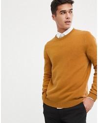 Maglione girocollo senape di ASOS DESIGN