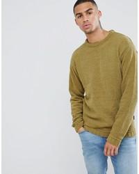 Maglione girocollo senape di D-struct