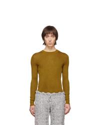 Maglione girocollo senape di Judy Turner