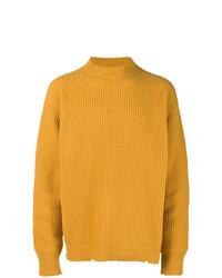 Maglione girocollo senape di MSGM